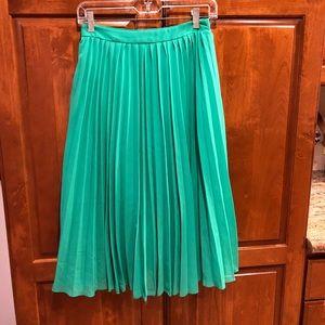 ASOS Kelly green pleated skirt